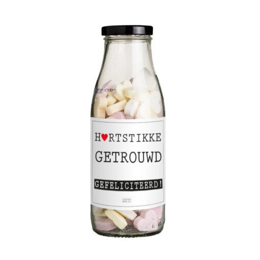 hartstikke getrouwd fles