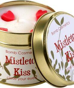 kaars in blik mistletoe kiss