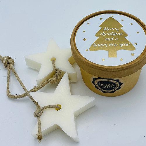zeep in doosje merry christmas