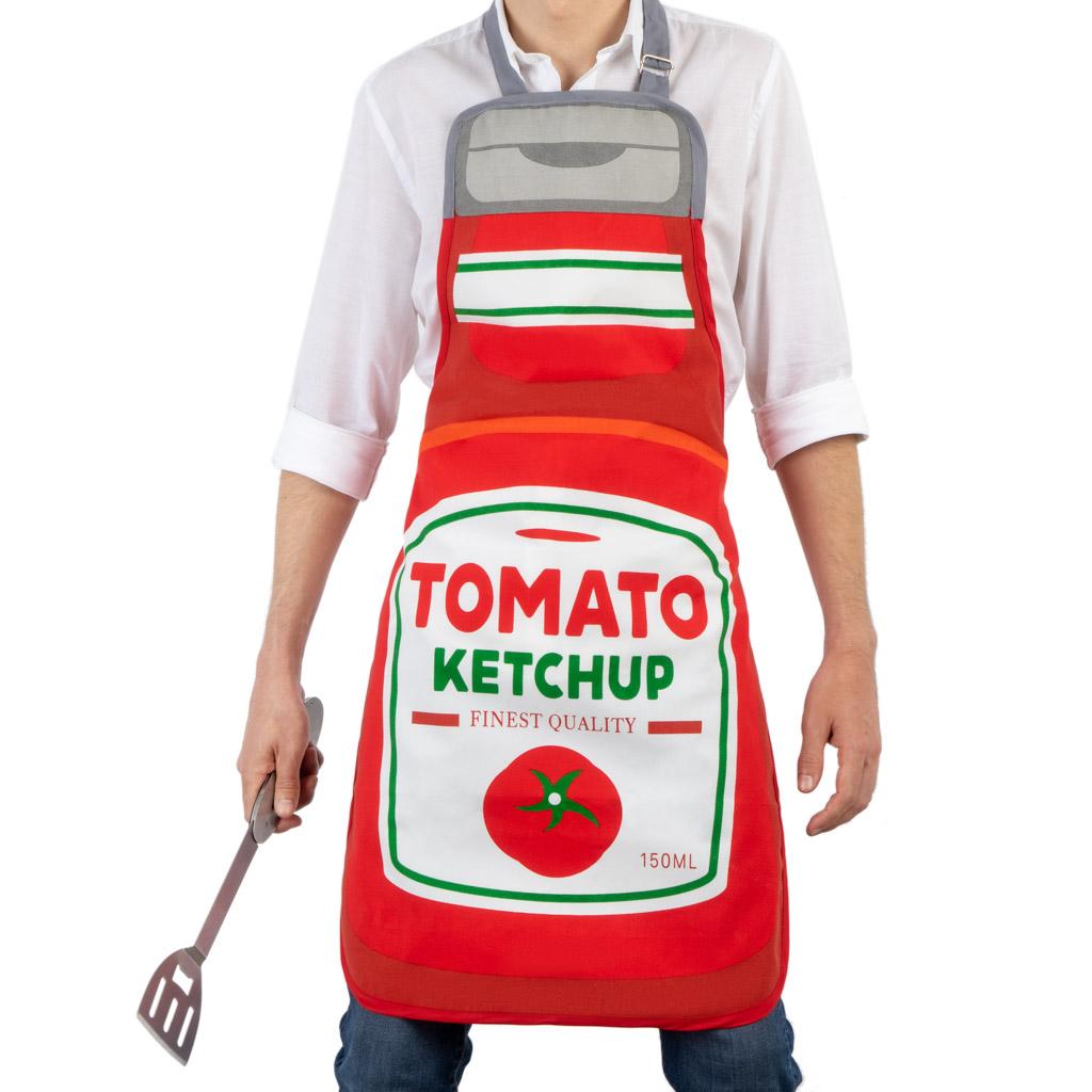 keukenschort tomato ketchup