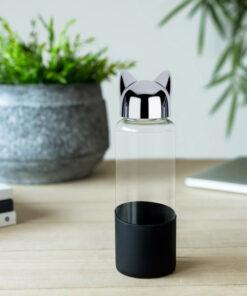 waterfles kat zwart